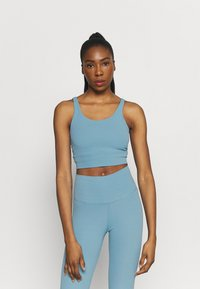 Nike Performance - THE YOGA LUXE CROP TANK - Top - cerulean/light armory blue - 0