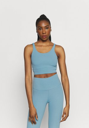 THE YOGA LUXE CROP TANK - Débardeur - cerulean/light armory blue