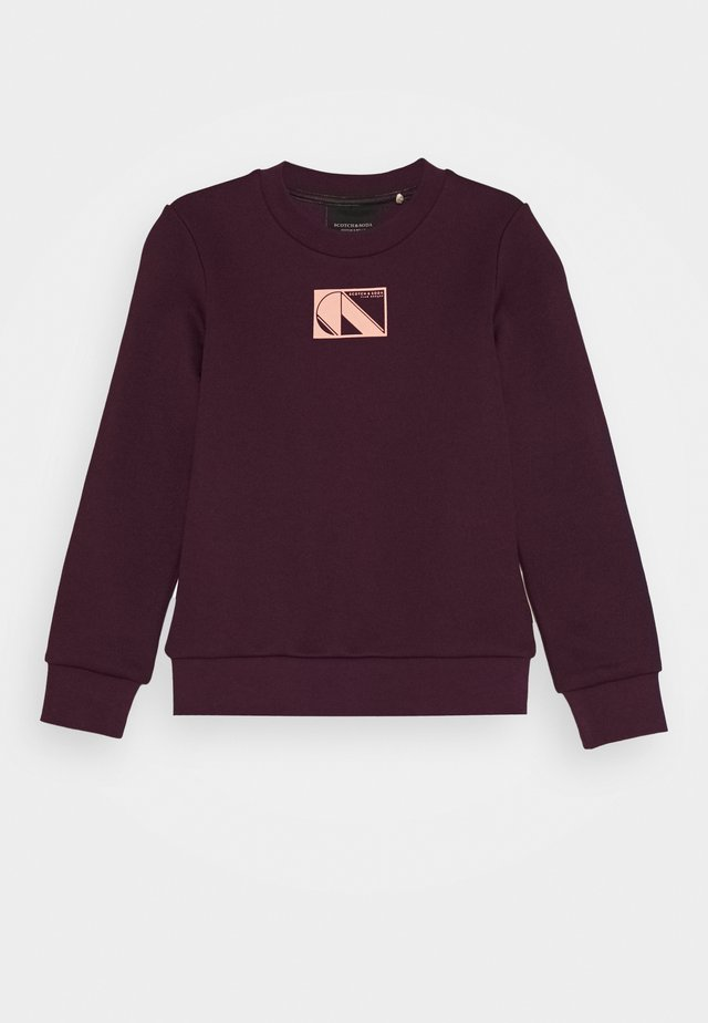 CLUB NOMADE BASIC - Sweatshirts - burned plum