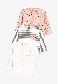 Next - Three Pack - Print T-shirt - pink - 0