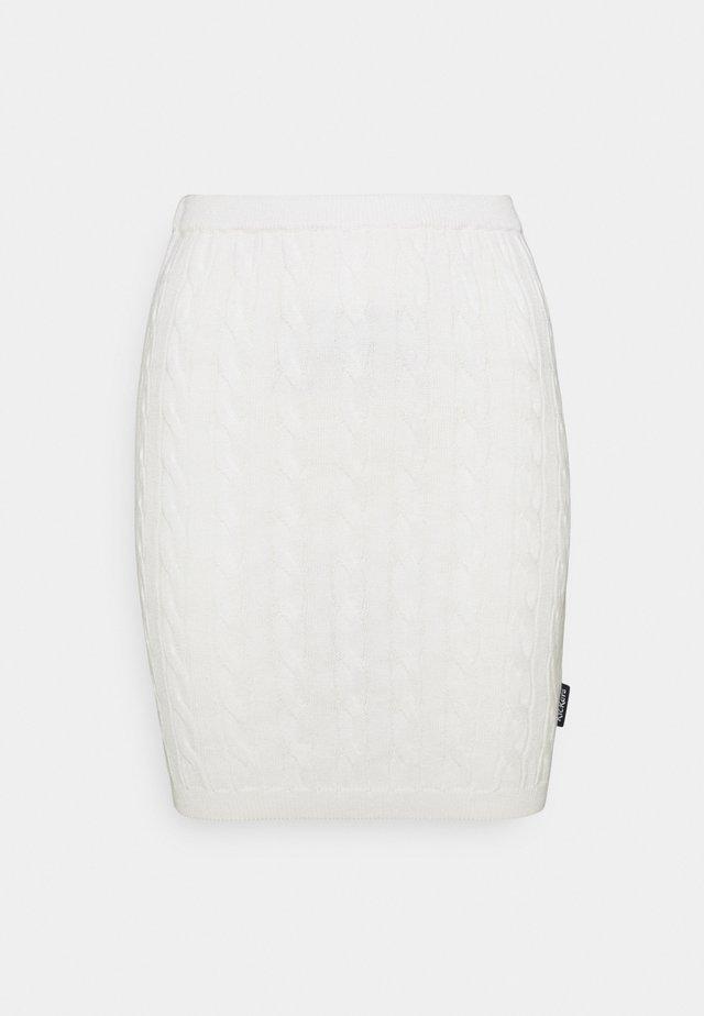 CABLE - Minirok - cream
