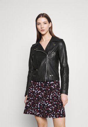 VMZIBBE BIKER JACKET - Leather jacket - black