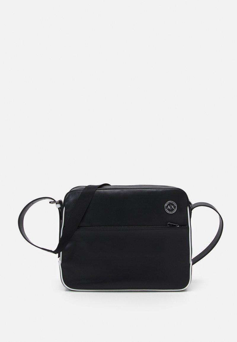 Armani Exchange - MANS CROSSBODY - Across body bag - black/white