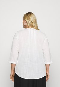 MY TRUE ME TOM TAILOR - BLOUSE TUNIC WITH PLEATS - Blouse - whisper white - 2