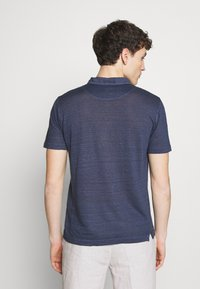120% Lino - Polo shirt - dark blue fade - 2
