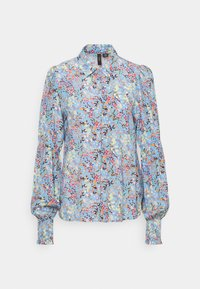 YAS Tall - YASSANTOS SHIRT TALL - Button-down blouse - dusk blue/santos print - 1