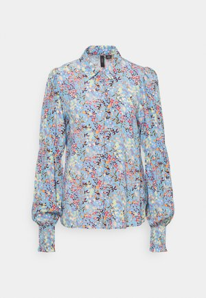 YASSANTOS SHIRT TALL - Button-down blouse - dusk blue/santos print