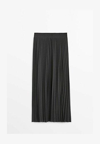 MIT STRETCHBUND  - A-line skirt - dark grey