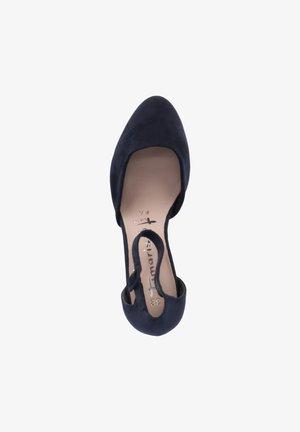 Ballerina's met enkelbandjes - blau
