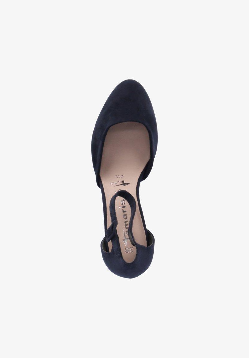 Tamaris - Ankle strap ballet pumps - blau