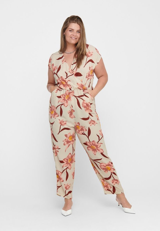 CURVY - Overall / Jumpsuit - oatmeal
