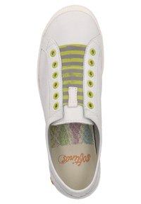 Softinos - Sneakers laag - white/yellow elastic - 1
