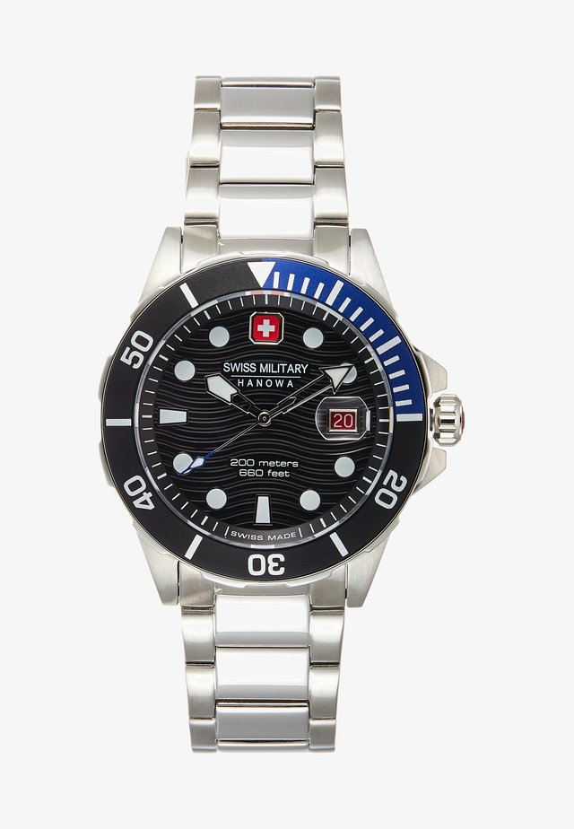 OFFSHORE DIVER - Hodinky - black/silver-coloured