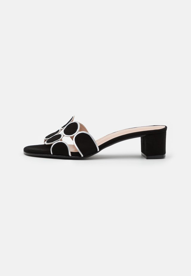 ERICA NEW - Heeled mules - black