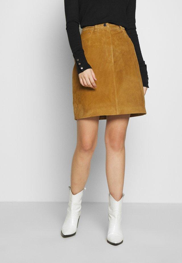 SLFLOVE SKIRT - Spódnica trapezowa - bronze brown
