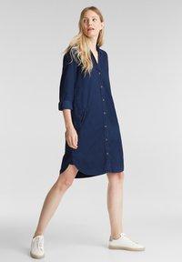 Esprit - Shirt dress - blue dark wash - 1