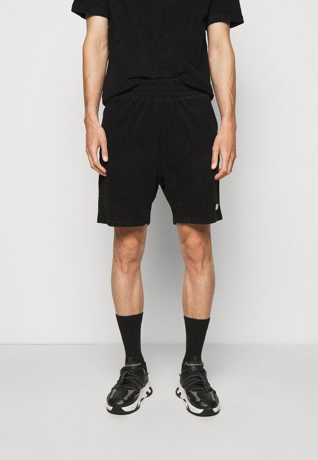 TOPOS SHAVED TERRY - Shorts - black