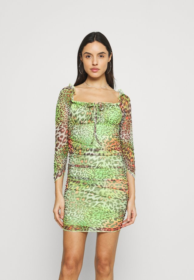 TROPICAL ANIMAL DRESS - Korte jurk - multi