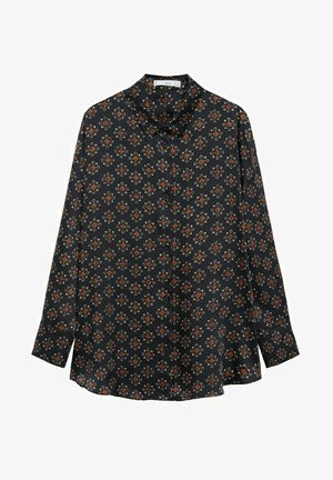 Button-down blouse - svart