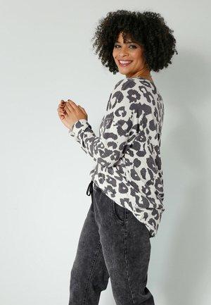 Long sleeved top - grau,schwarz