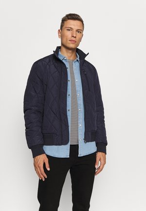 DIAMOND QUILTED BOMBER - Jas - blue