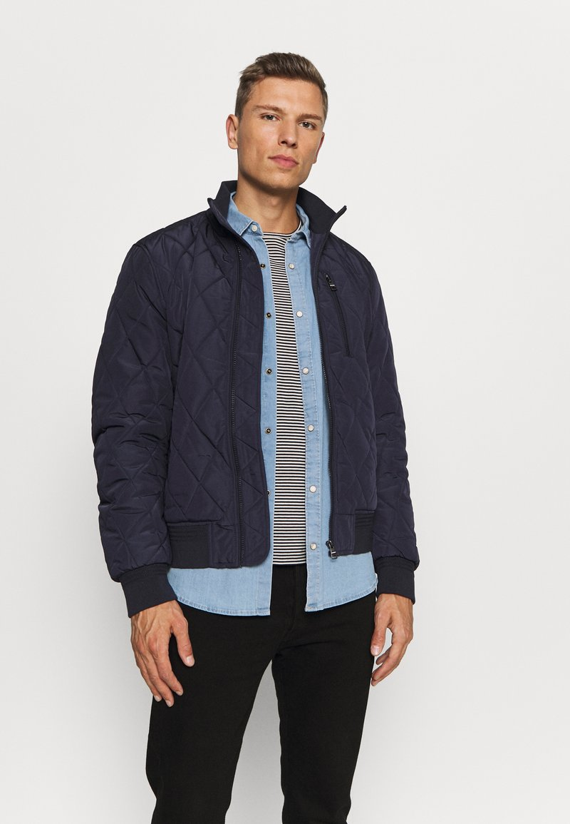 Tommy Hilfiger - DIAMOND QUILTED BOMBER - Light jacket - blue