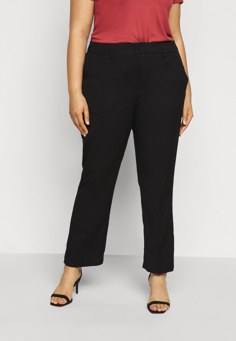 Kaffe Curve - META PANTS - Trousers - black deep