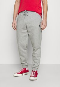Converse - MENS EMBROIDERED STAR CHEVRON PANT - Tracksuit bottoms - mottled grey - 0