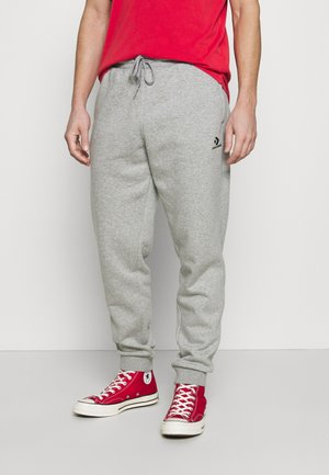 MENS EMBROIDERED STAR CHEVRON PANT - Verryttelyhousut - mottled grey