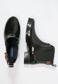 Tommy Hilfiger - OXLEY - Wellies - black/winter cognac - 2
