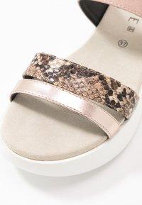JETTE - Pantofle - bronze/rose - 2
