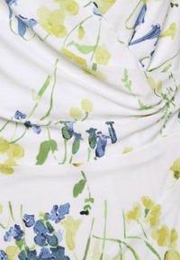 Lauren Ralph Lauren - PRINTED MATTE DRESS - Sukienka etui - cream/yellow - 6