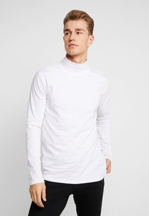 TURTLE NECK TEE - Long sleeved top - white