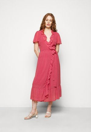 PRINTED MIDI DRESS - Denní šaty - crimson