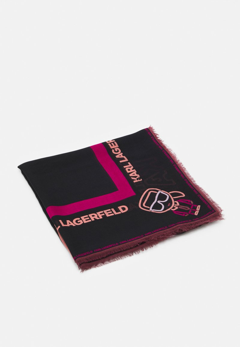 KARL LAGERFELD - IKONIK BIARRITZ SCARF - Foulard - black/multi