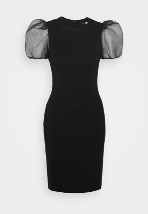 SLEEVE PUNTO DRESS - Cocktail dress / Party dress - black