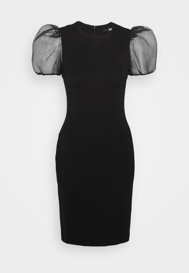 KARL LAGERFELD - SLEEVE PUNTO DRESS - Cocktail dress / Party dress - black
