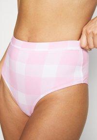 Solid & Striped - THE LILO BOTTOM PAINTED GINGHAM - Bikinialaosa - cloud pink - 4