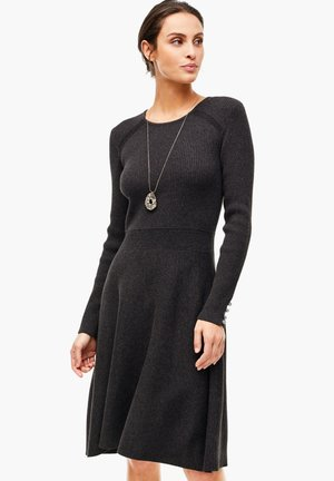 Jumper dress - asphalt grey melange