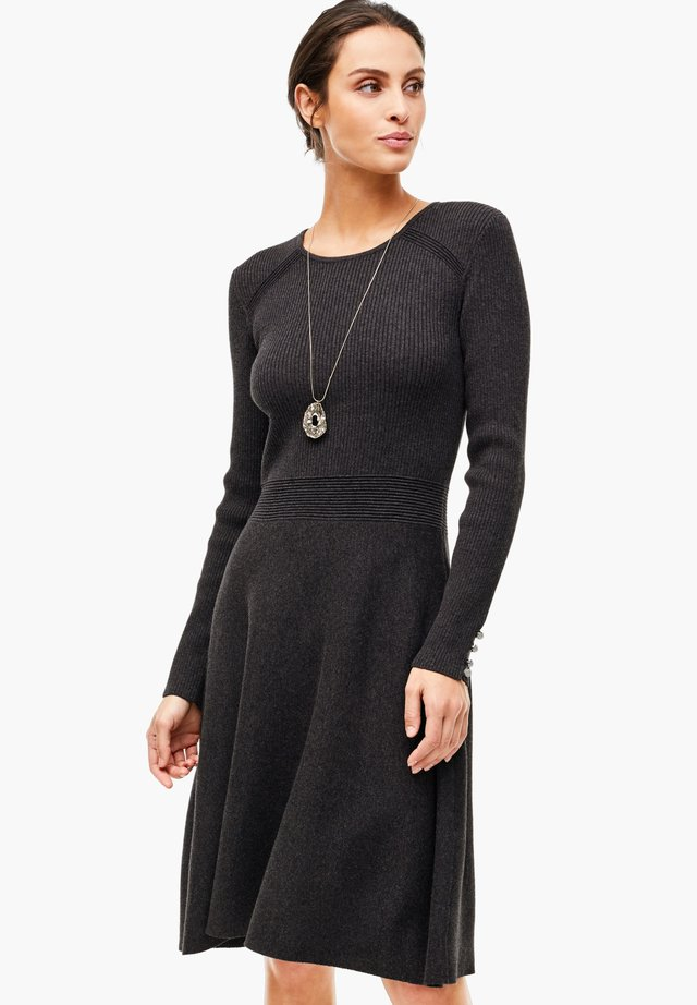 Jumper dress - asphalt grey melange