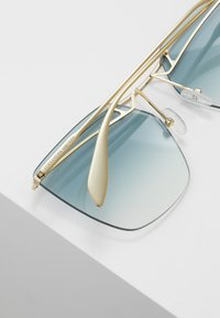 Alexander McQueen - Sunglasses - gold-coloured/blue - 4