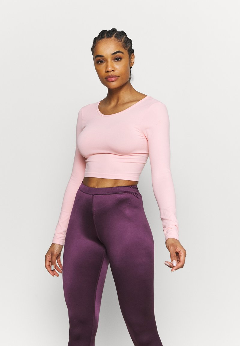 Cotton On Body - LIFESTYLE SEAMLESS OPEN BACK LONG SLEEVE  - Long sleeved top - fairy tale