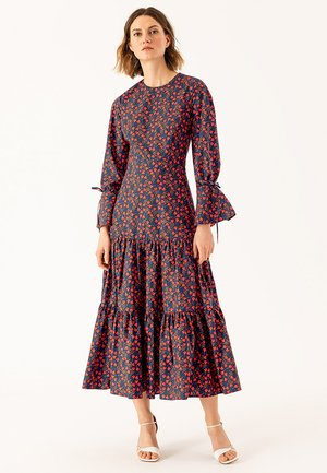 LIBERTY LONDON RUFFLE - Maxi dress - dark blue red