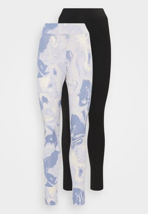 2 PACK - Leggings - blue/black