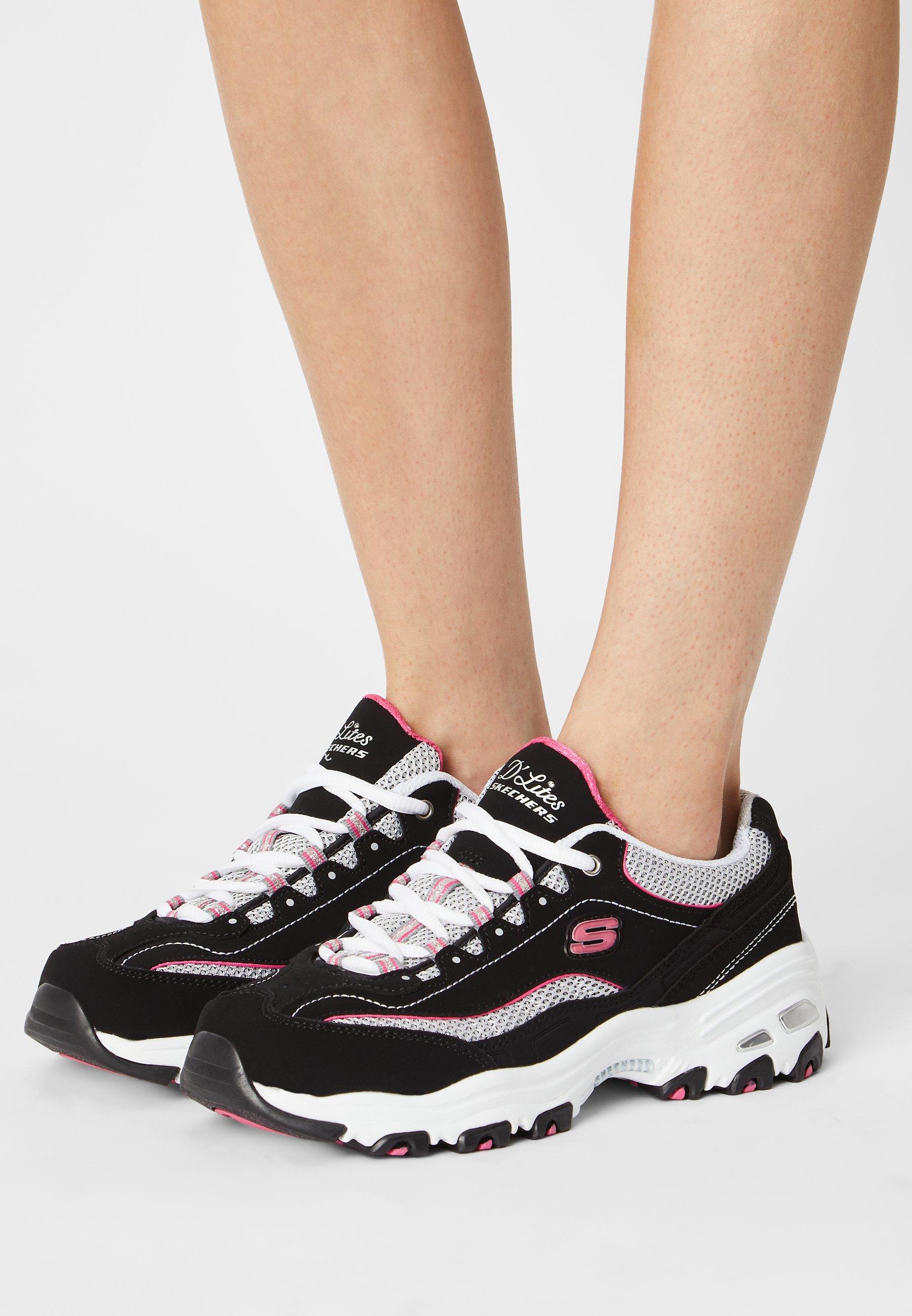 Women D'LITES - Trainers - black/white/pink
