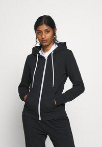 Even&Odd Petite - Zip-up hoodie - black - 0