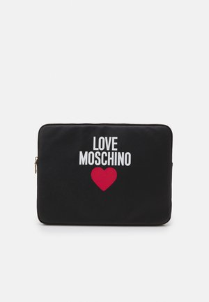 EXCLUSIVE 16 INCH ROUND ZIP POUCH - Laptop bag - nero