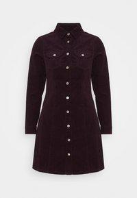 STRUCTURED SHIRT DRESS - Shirt dress - purple