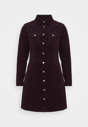STRUCTURED SHIRT DRESS - Skjortekjole - purple