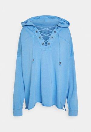 LACE UP HOODIE - Sweatshirt - blue crescent